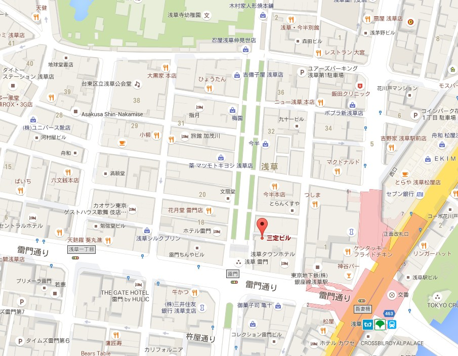 仲見世通り・1号公衆トイレの【地図】