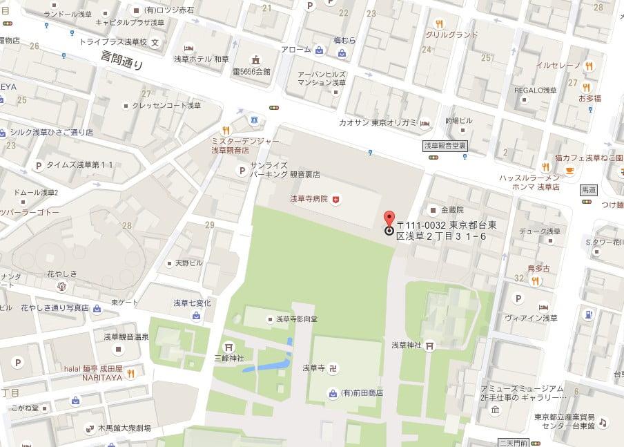 浅草寺・本堂裏公衆トイレ【地図】