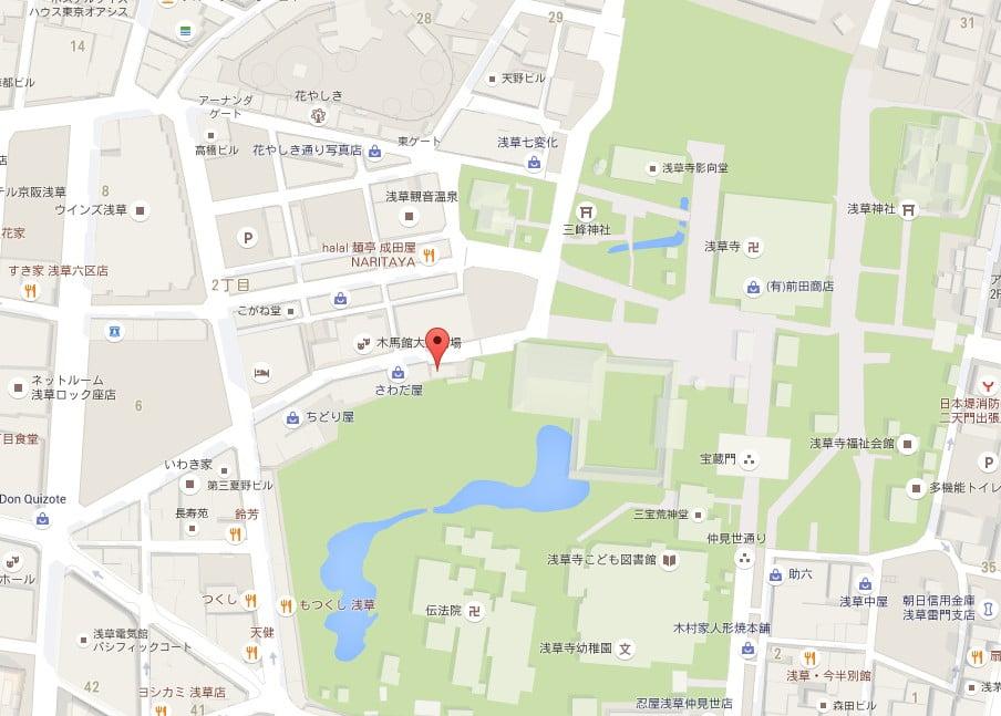 浅草 木馬館前・公衆トイレ【地図】