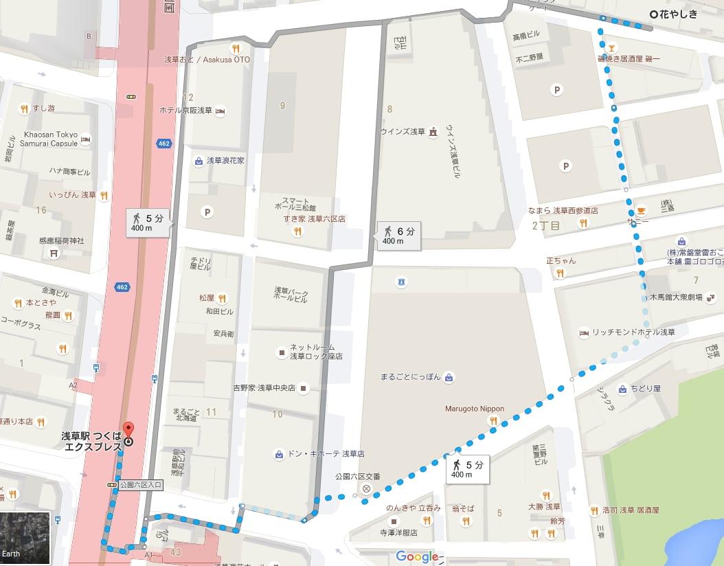 つくばエクスプレス浅草駅から浅草寺へアクセス・行き方