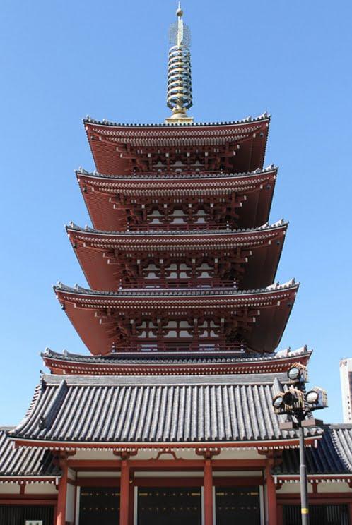浅草・浅草寺「五重塔」【旧・国宝】