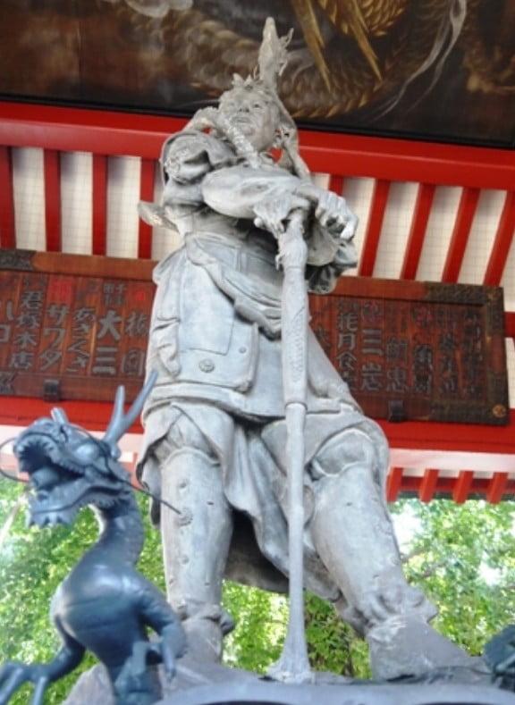 浅草寺・手水舎・龍神像