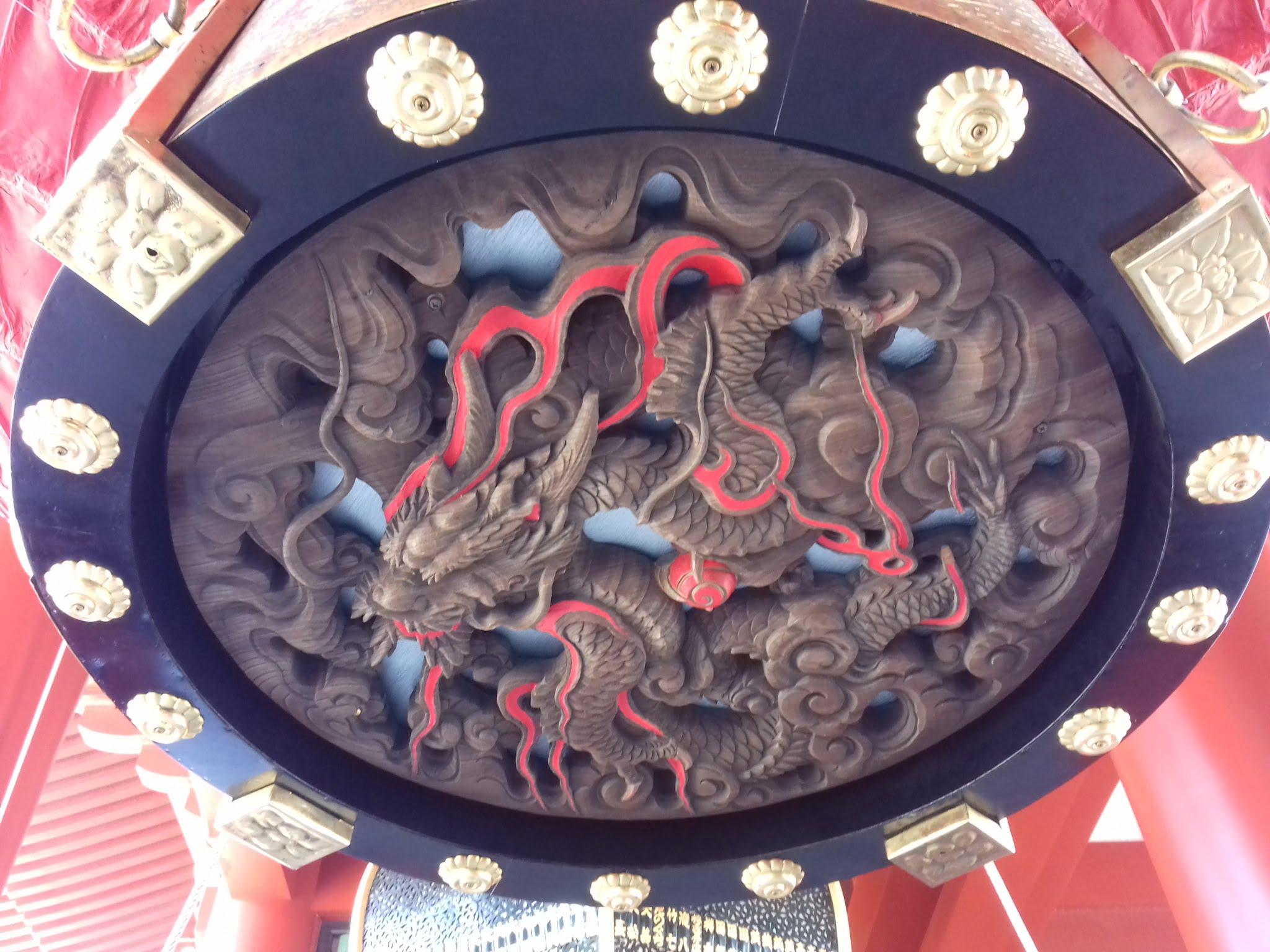 宝蔵門の「小舟町の大提灯」