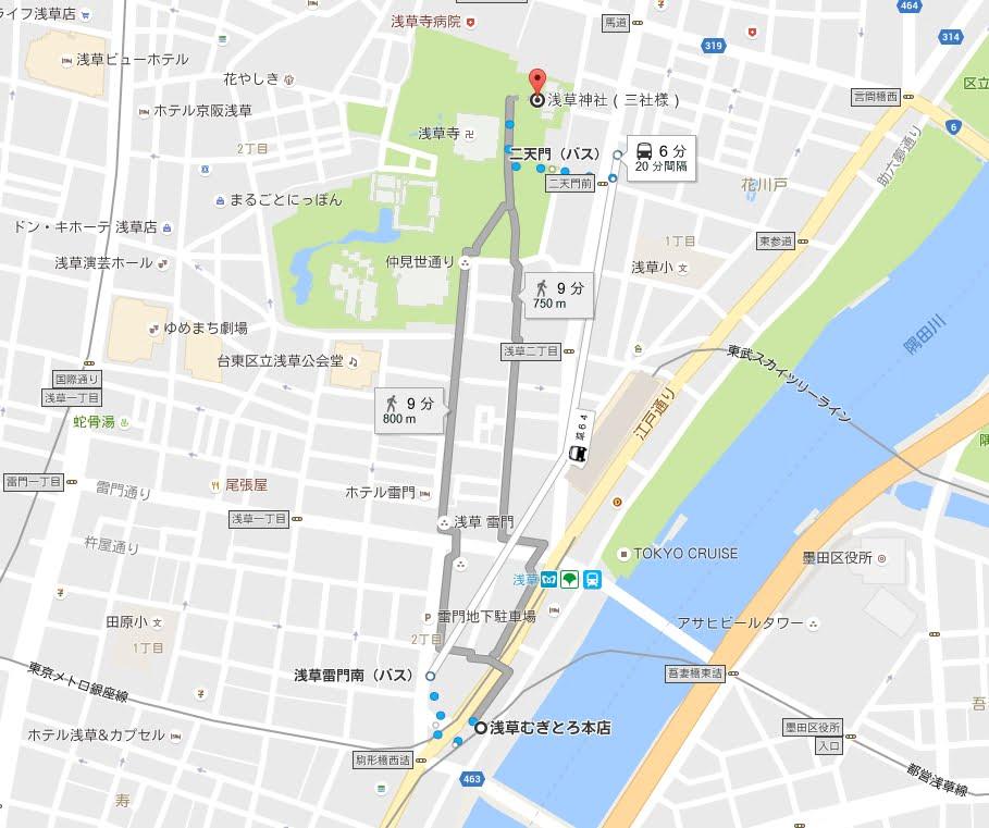 東京メトロ銀座線・浅草駅から浅草神社アクセス