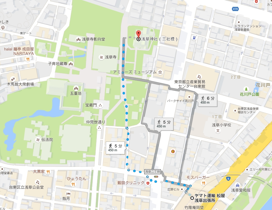 東武鉄道伊勢崎線(東京スカイツリーライン)浅草駅から浅草神社アクセス