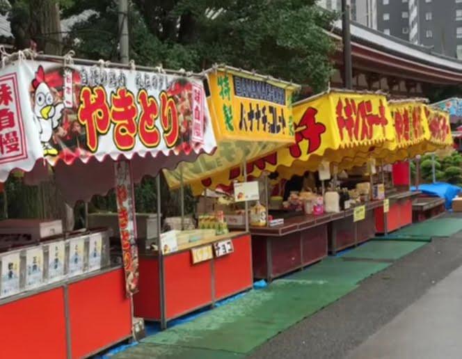 浅草寺・ほおずき市の屋台の種類・出店時間