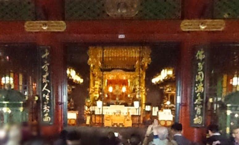 浅草寺・本堂内陣「宮殿」