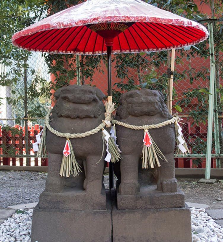 浅草神社・「夫婦狛犬」