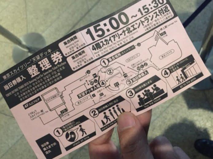 東京スカイツリー整理券